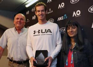 14/1/2017 Andy Murray presented with ITWA Trophy Picture Dave shopland