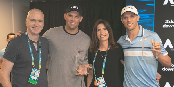Mike and Bob Bryan, Simon Cambers, Isabelle Musy