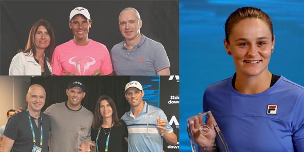 Rafael Nadal, Ash Barty, Mike & Bob Bryan, Isabelle Musy, Simon Cambers